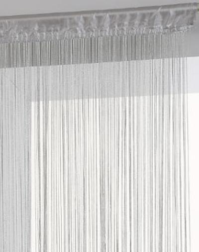 Ezüst spagetti függöny