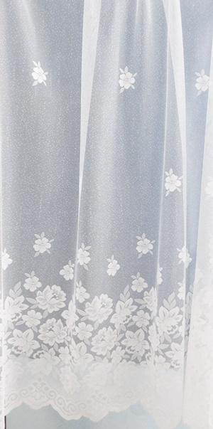 Fehér bordűrös jaquard kész függöny 6635 160x220cm
