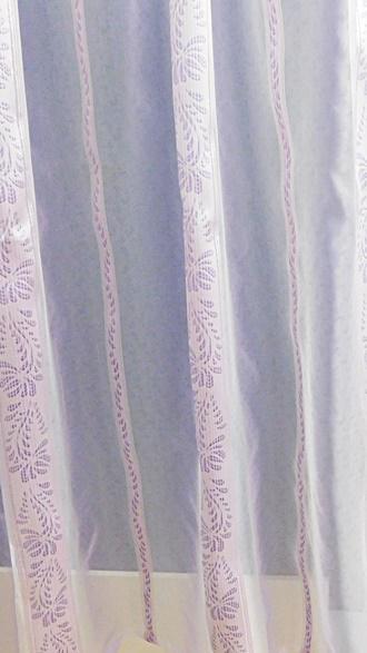 Fehér gyerekmintás voila kész függöny Jégvarázs VK.90x200cm
