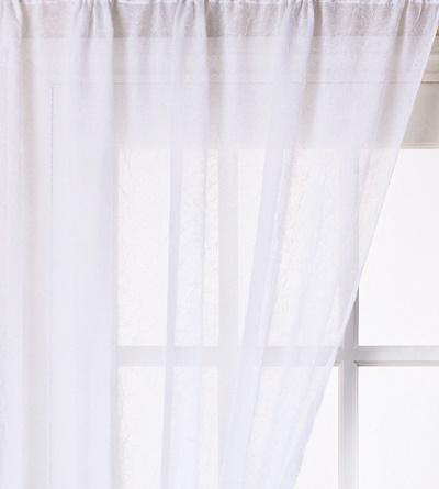 Fehér gyűrt voila kész függöny/250x190cm/