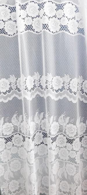 Fehér jaquard kész függöny Margaréta 250x280cm