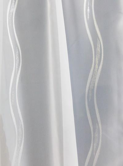 Fehér jaquard kész függöny virágos 5.
