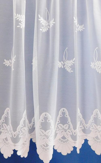 Fehér jaquard vitrage függöny Ágacska 90x120cm