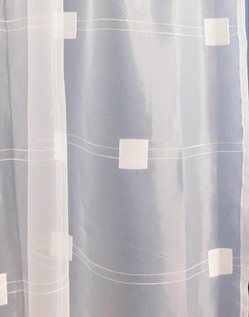 Fehér jaquard vitrage függöny Inka