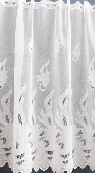 Fehér jaquard vitrage függöny LG