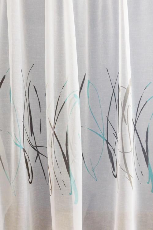 Fehér jaquard vitrage függöny NV. 90x150cm