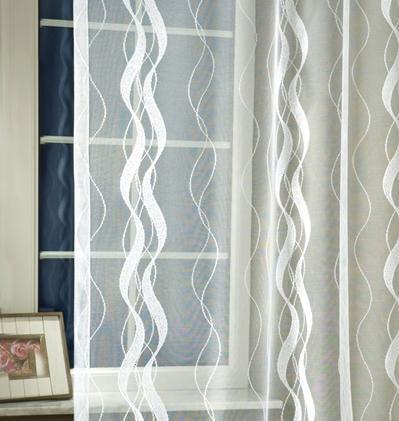 Fehér jaquard vitrage függöny piros szivecskés