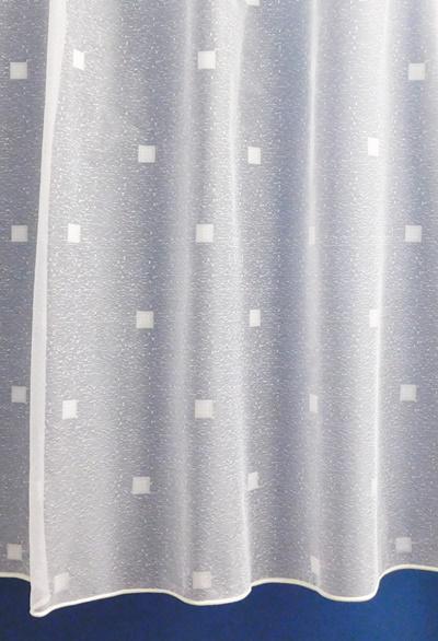 Fehér kis kockás jaquard kész függöny DR6785/180x300cm