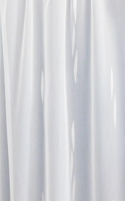Fehér sable kész függöny Lila virágos nyírt mintával