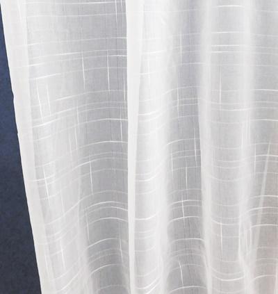 Fehér sable vitrage függöny Mili 70x120cm
