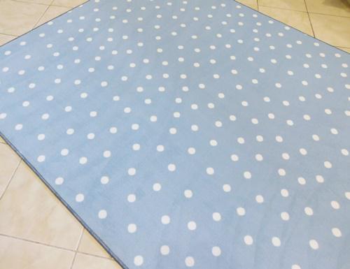 Fehér shaggy kis szőnyeg