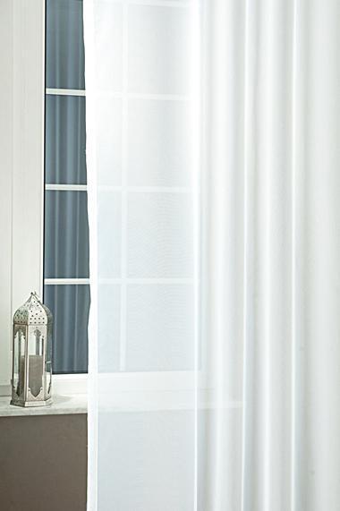Fehér voila kész függöny 3D mintával mályva 150x190cm