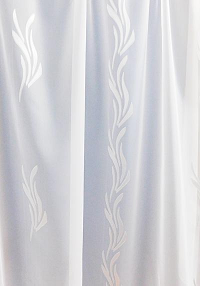 Fehér voila kész függöny fehér mintás Szirom A.C./215x400cm