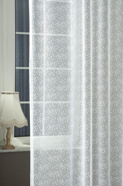 Fehér voila kész függöny kevés mintával 2.