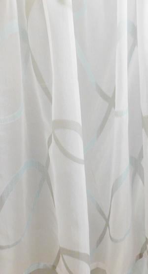 Fehér voila kész függöny lila szürke kockás