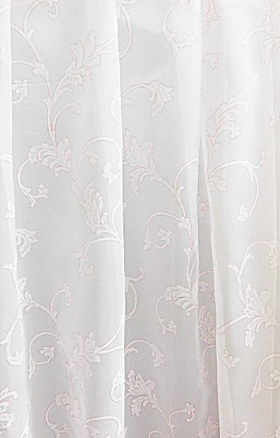 Fehér voila kész függöny Virágos ML 150x160cm