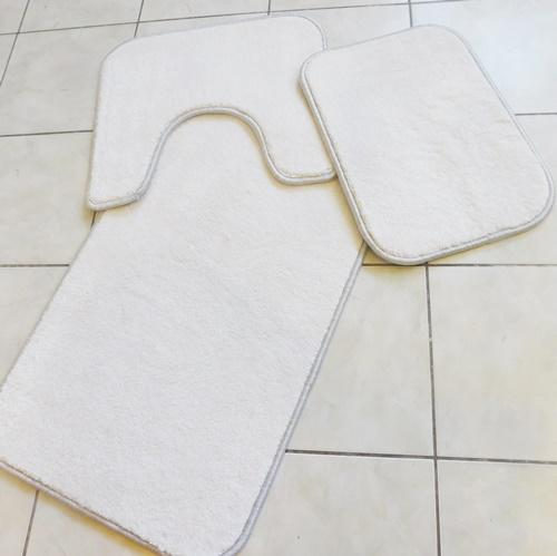Fürdőszobai szett  3 részes vastag fehér II.o