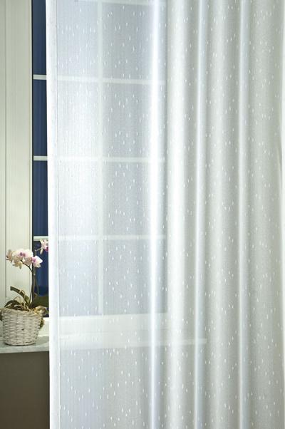 Hímzett voila kész függöny bújtatós /140x165cm