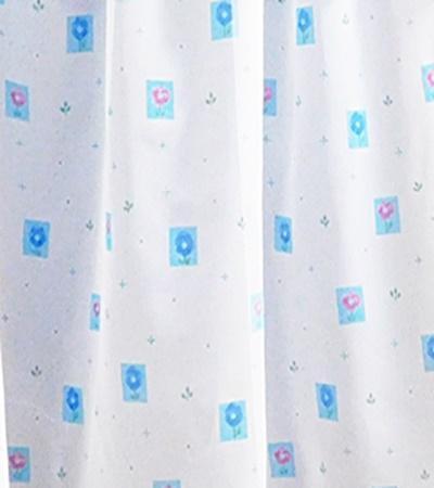 Kék fehér mintás voila kész függöny