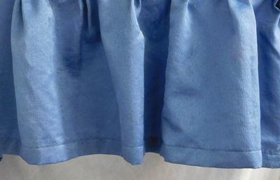 Kék szatén drapéria 30x310cm