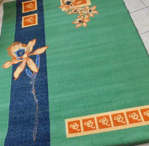 Kész szőnyeg vanilia szín rojtos 67x120cm
