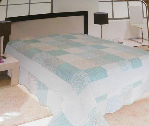 Narancs virágos ágytakaró, új