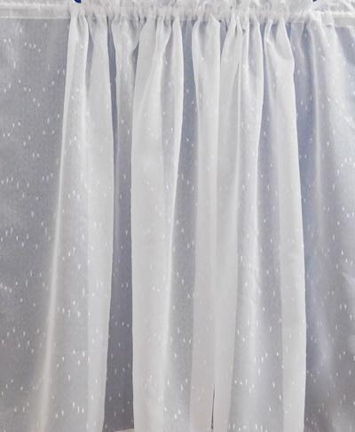 Noppos fehér sable vitrage függöny 50x160cm