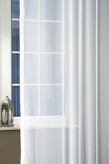Párizs mintás voila kész függöny kék szürke 90x100cm
