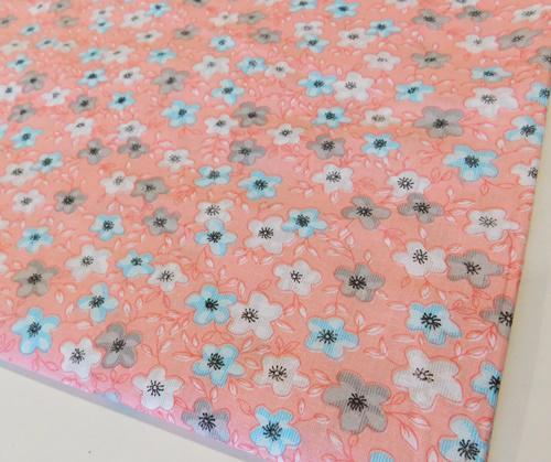 Szürke virágos pamut terítő kb:140x165cm
