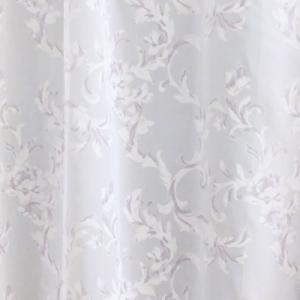 Apró virágos fehér voila kész függöny
