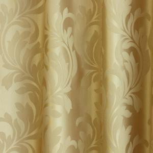 Ecrü gyűrt kész függöny narancs nyírt mintával II.O