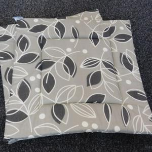 Egyszínű vászon ülőpárna sötétzöld