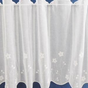 Fehér batiszt kész függöny nyírt mintával Zenit Caffe Latte/175x220cm