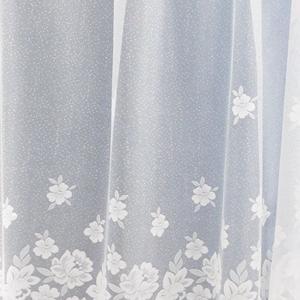 Fehér bordűrös jaquard kész függöny 6635 160x250cm