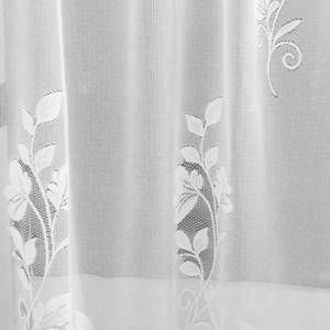 Fehér jaquard vitrage függöny apró mintás