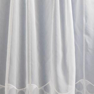 Fehér jaquard vitrage függöny DR-47431 90x163cm
