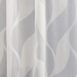 Fehér jaquard vitrage függöny méterben Roy 30cm magas