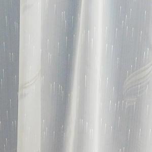 Fehér sable kész függöny kék ezüst organza mintával/160x210cm/