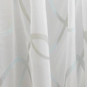 Fehér sable kész függöny szürke kék minta 97x210cm