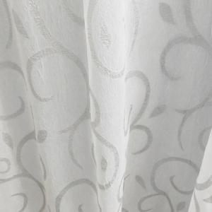 Fehér sable kész függöny türkisz hullámos 150x240cm