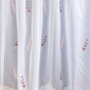 Fehér sable vitrage függöny Mili 50x100cm