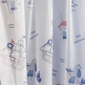 Fehér voila gyerekmintás kész függöny Lufi és Állatkák/150x300cm