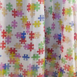 Fehér voila gyerekmintás kész függöny Lufi és Állatkák/220x300cm