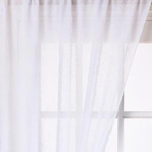 Fehér voila kész függöny barna drapp nyírt mintával H3./180x200/