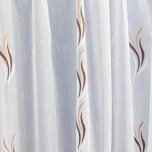 Fehér voila kész függöny fehér nyírt mintával A.C.KR./250x150cm