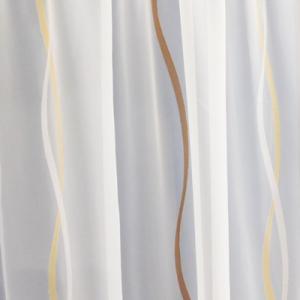 Fehér voila kész függöny szürke hullámos 140x190cm