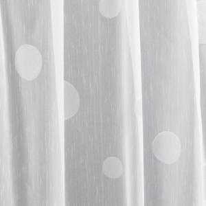 Fehér voila kész függöny szürke nyírt mintával Ovál/180x200cm