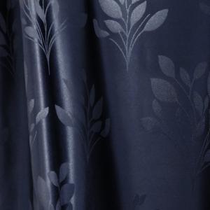 Fehér voila kész függöny türkisz virágos 120x130cm