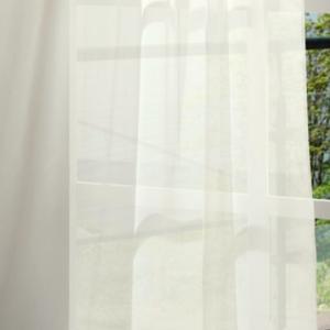 Fehér voila kész függöny Virágos ML/180x120cm/ON/