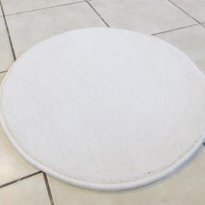 Shaggy törtfehér kör szőnyeg 50cm átmérő